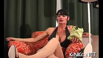 Xvideoes femdom Serf fastened up and jerked off