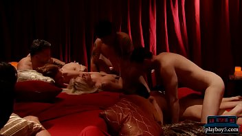 Married couple tries swinging for the first time in an orgy