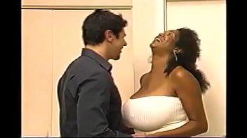Massive tits ebony fucked on couch