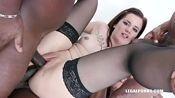 Obedient slut Zara Lick enjoys pissing and anal sex with with black guys IV505