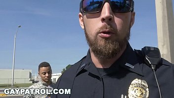 GAY PATROL - Aggressive Cops Take Down Fake Soldier and Lay Down The Law
