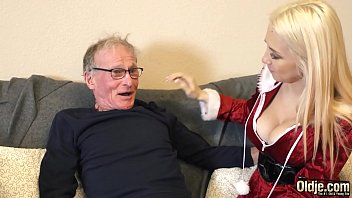 70 year old man fucks 18 year old girl she swallows all his cum Image