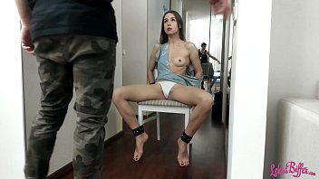 Man Made Tied Girl Squirting Orgasm Using Sex Toys