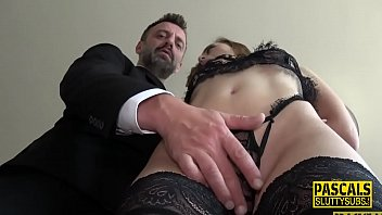 Whipped And Bound Submissive Gets Fingered