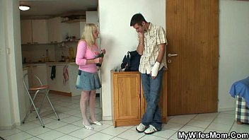 His mother sucks his friends cocks Old blonde sucks and rides his big cock