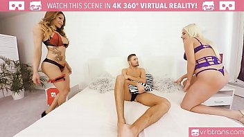 TS VR Porn-MY FIRST ANAL TS THREESOME