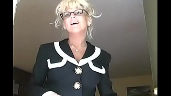 Black vogue xxx Blonde mature french teacher mrs. vogue with glasses help student