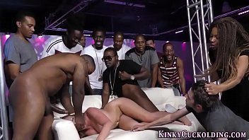 Black cum humiliated slut Slut enjoys bbc gangbang