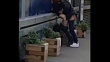 Couple Fuck at train station