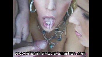 Tgirls Love Facials!