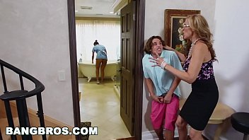 BANGBROS - Stepmom threesome with the Latina maid Abby Lee Brazil