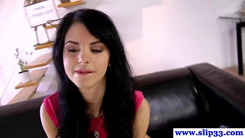 Petite euro model drools all over cock