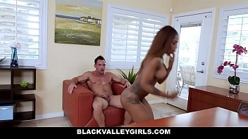 BlackValleyGirls - Ebony Teen Fucks Best Friends Dad