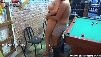 Porn op - Danna hot apostando el culo en un juego de billar