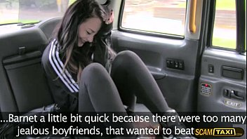 Attractive chick appreciates hot sex inside the taxi