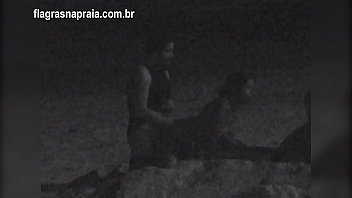 I filmed a couple having sex on the beach at night. A security guard put them to run