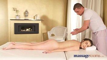 Massage Rooms Sexy young nympho Ukrainian takes a big cock facial