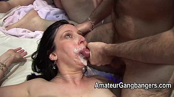 Mature bukkake facials Mature fucked hard and taking facial cum