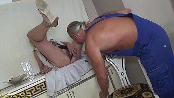 ugly grandma brutal deepthroat anal fucked