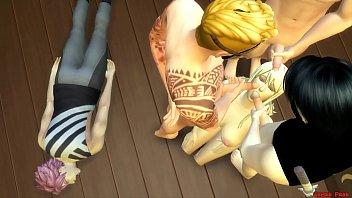 12462 Lucy Violada Por los Enemigos Delante Su Novio Herido en el Suelo Anime Hentai Netorare Fuerte - Fairy Tail preview