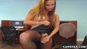 Latina alone and horny at work wants to squirt