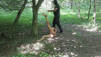 Rope nude Tortured outdoors part 6