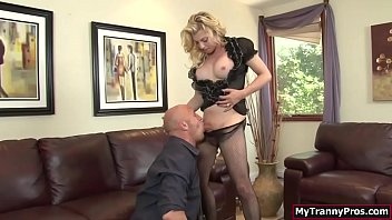 Tyra shemale in atlanta - Busty ts blonde gets analed by bfs cock