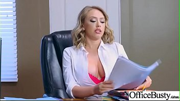 Hard Sex Tape In Office With Big Round Tits Sexy Girl (Kagney Linn Karter) video-15