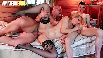 AMATEUR EURO - Eager Blonde Louise Du Lac Turn Sex Session With Her Hubby Into Threesome
