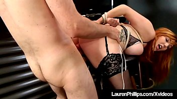 Red Headed Hottie Lauren Phillips Bound, Punished & Fucked!
