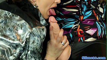 Gloryhole lesbians drenched with cum