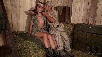 Horny Soldiers Bang Sexy Corporal Sophie Lynx's Pussy & Ass