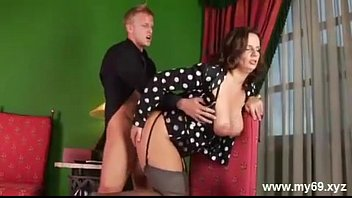 Luxurious german MATURE with big tits gets creampied and cumshot