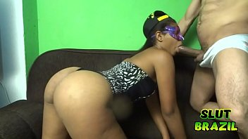 Young black girl from the favela of Rio de Janeiro fucking for money
