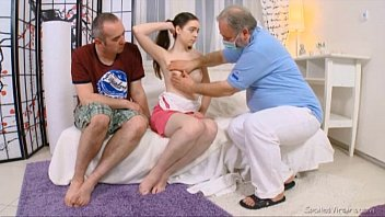 Julia's virgin pussy checked by doctor and carefully deflowered