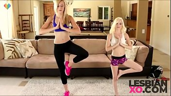 Petite Teens Piper Perri and Alexa Grace In Hot Lesbian Yoga Session - LesbianXO.com