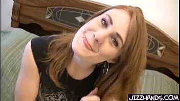 redhead blasted with jizz