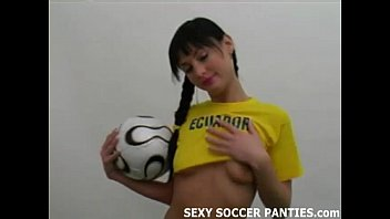 Sexy sport outfits - Ecudarorian football hottie teasing in uniform