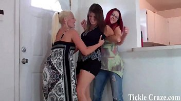 Tickle porn video Courtney and macy tickling bella for cheating