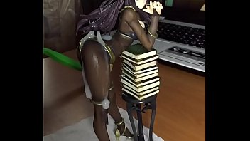 Nude figure doll Cum on tharja figure bukkake sof