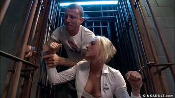 Prisoner anal fucks blonde interrogator