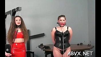 Young playgirl extreme bondage