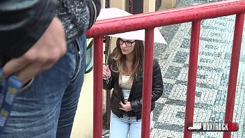 Hot Noami Benett fucks in a public place