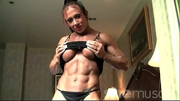 Black bodybuilders tgp - Sexy female bodybuilder with amazing body poses in lingerie