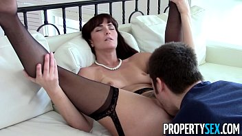 PropertySex - Sexy MILF agent makes dirty homemade sex video with client