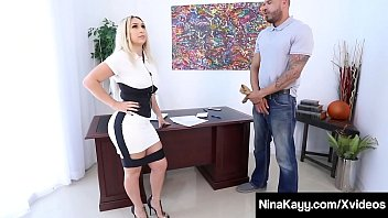 Big Booty Boss Babe Nina Kayy Is Butt Banged By Worker Dude!