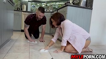 Flirty wife Ryder Skye saw her hot brother in law Mike Mancini at the kitchen, she seduces him and he cant resist but to fuck with hungry MILF cunt.