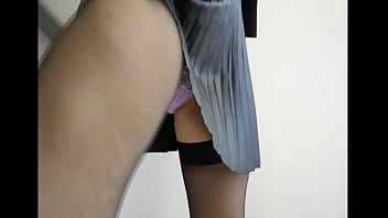Sexy slut wife upskirt