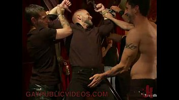 Extreme gay blowjobs Bound gay to a cross gets dick teased