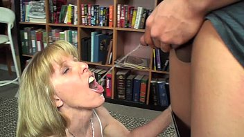 Piss in husbands mouth - Young guy pisses and cums in my mouth